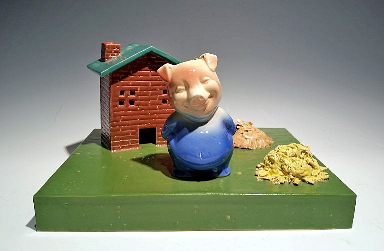 Smarter Than Your Average Pig  ceramic  $320