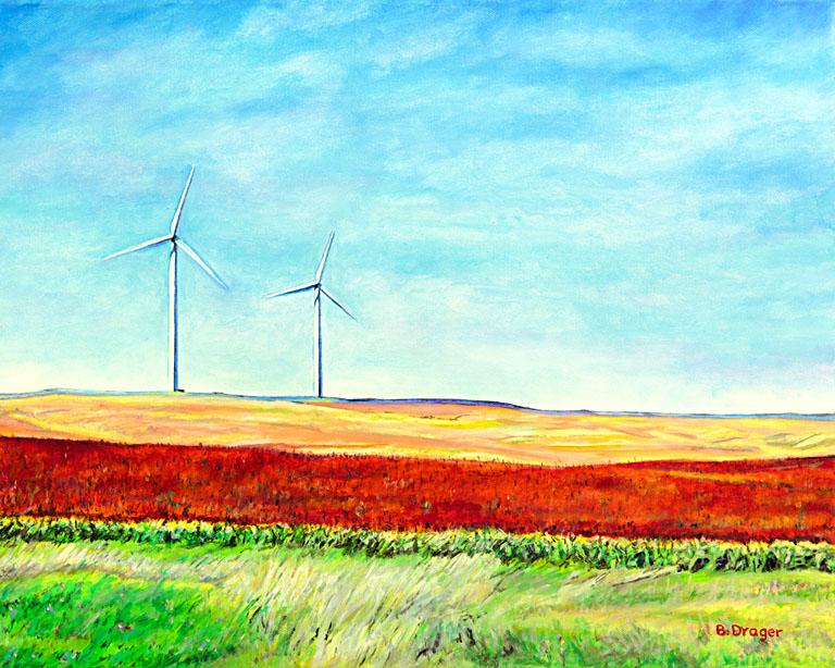 Kansas Pinwheels 16x20 ac $800 fr