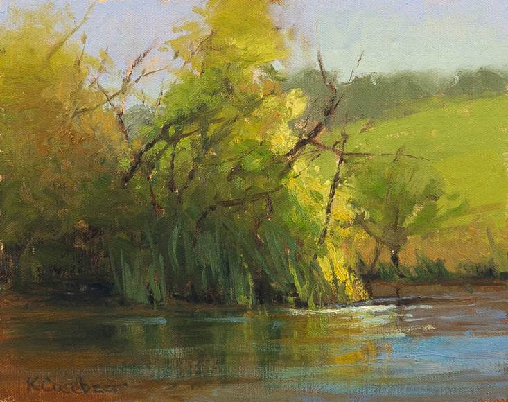 Wabunse County Pond 8x10 ol $850 fr