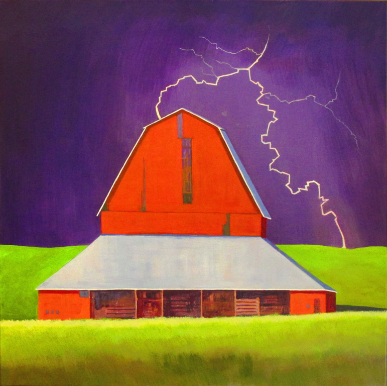 Bruce Ediger Light Before the Storm  30x30 ac,wc $855