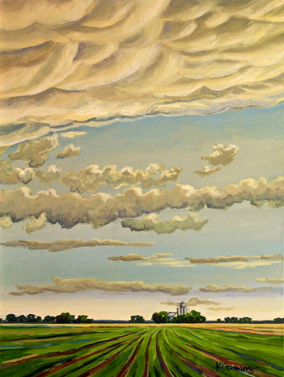 Kristin Goering Co Op and Clearing Sky   24x18  ac  $1,075