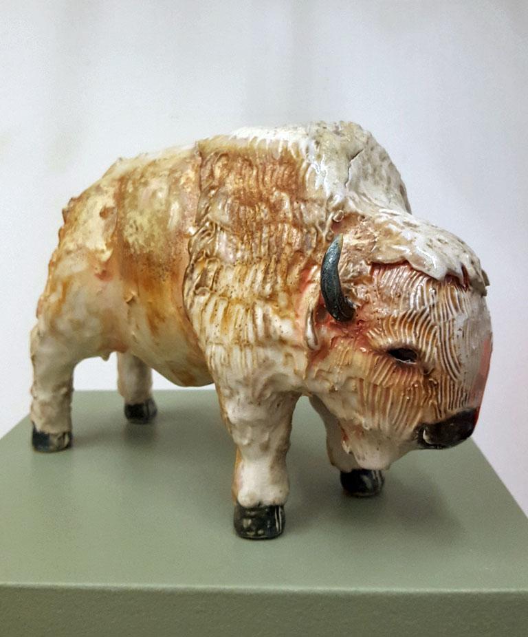 Brian Horsch Woodfired Bison BH#29 Ceramic $250