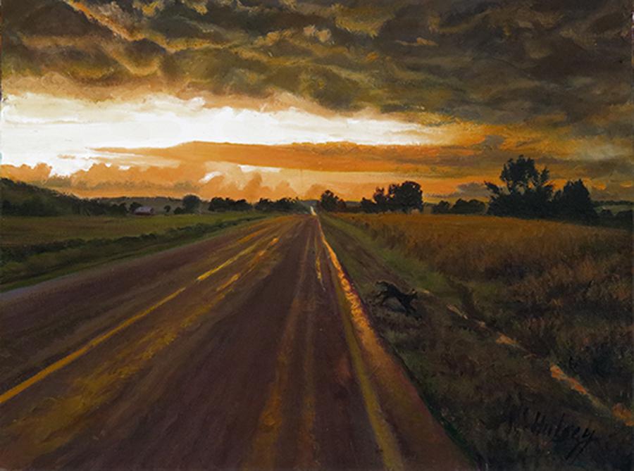 John Hulsey Storm Clearing 9x12 op $850