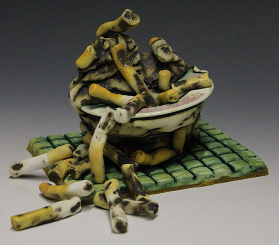 Ash Tray and Cigarettes ceramic SOLD