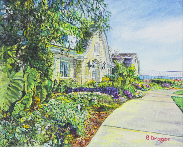 Becky Drager  K-State Gardens  8x10  ac  $400