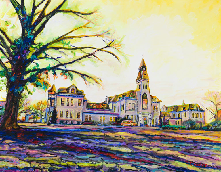 Becky Drager  Sunset Over Anderson  11x14  ac  $500 fr