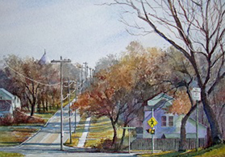 Ralph Fontenot Before and On Sunset 9x13 wc $420