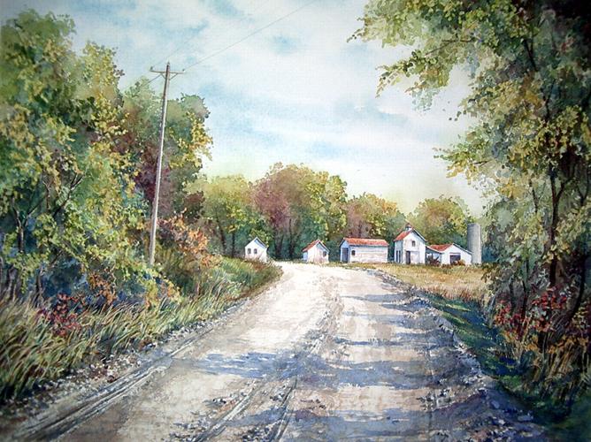 Ralph Fontenot Coming Home To Keats 16x20 wc $980 fr