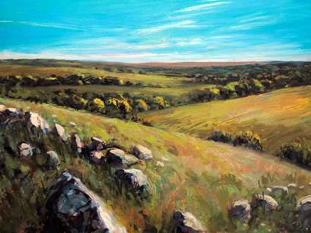 Joseph Loganbill Meditation On The Hills 12x16 op $995