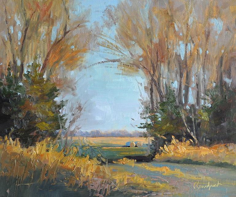 Cristine SundquistCome On In 10x12 ob $285 fr