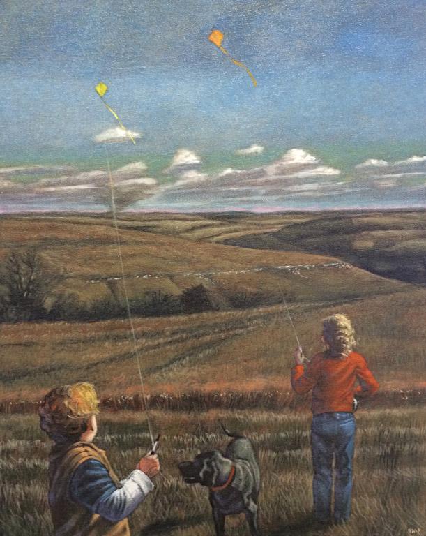 Barbara Waterman-Peters MMWS Flint Hills Kites 20x16 oc $900