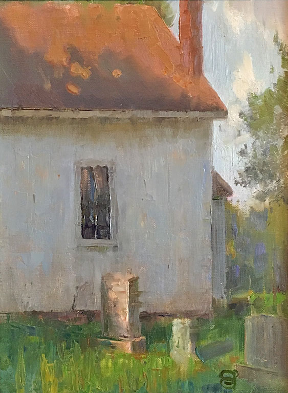 Dappled Light Along the Tombstones  12x9  op  $450 fr