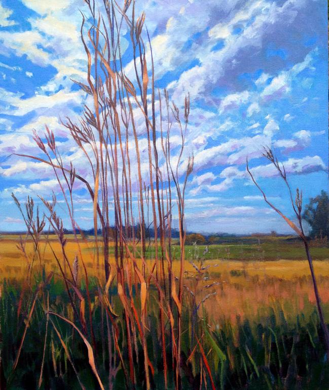 Diana Werts Prairie Portrait - Big Blue 20x24 ob $1,200