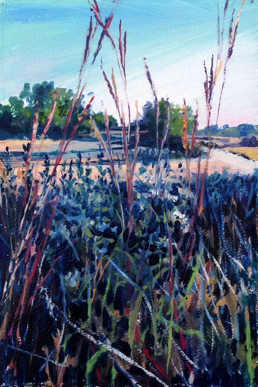 Diana Werts Road at the Land Institute 7.5X11 op $450