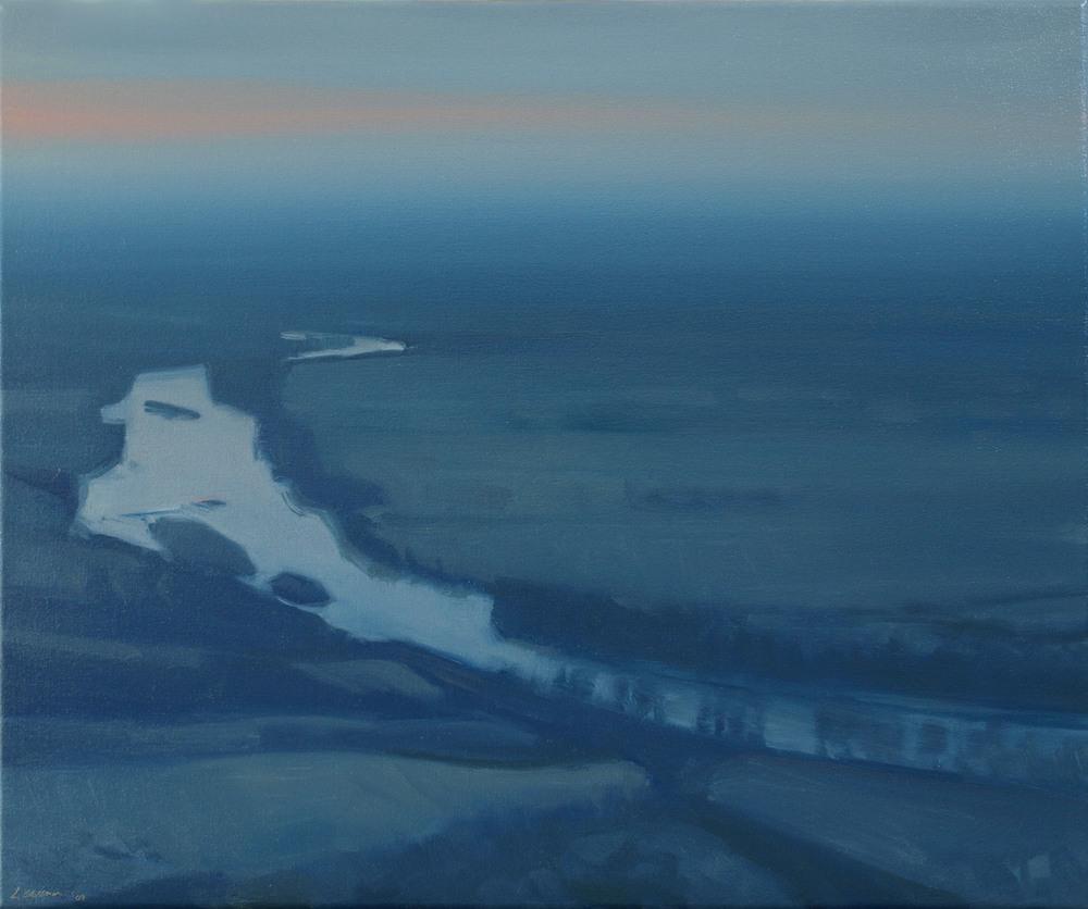 Lisa Grossman Nightfall - Prairie River ll 20x24 oc $1,600