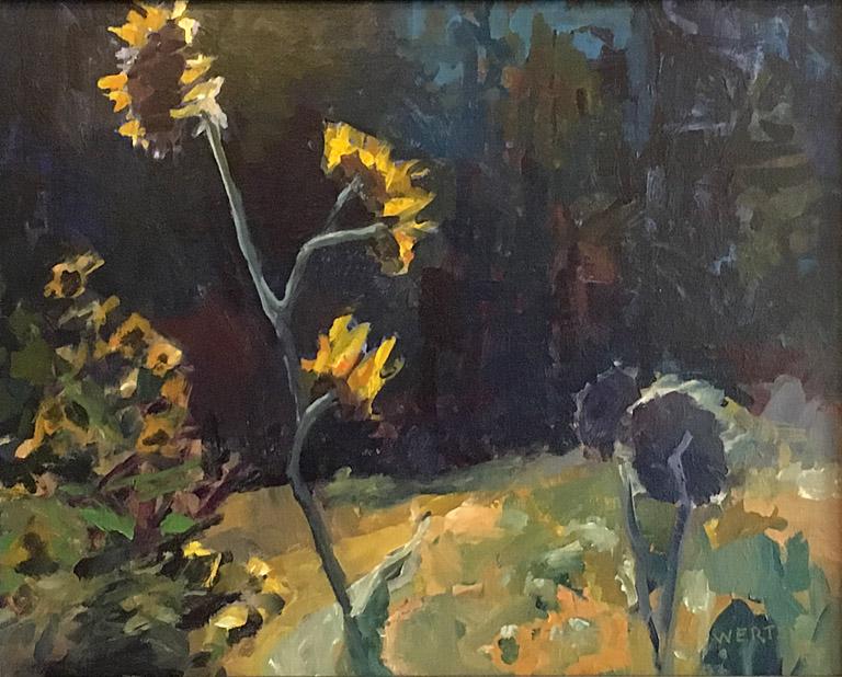 Dark Day Sunflowers 16x20 oc $720 fr