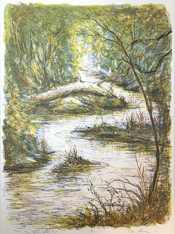 Little Walnut River  19 of 20  stone lithograph  SOLD