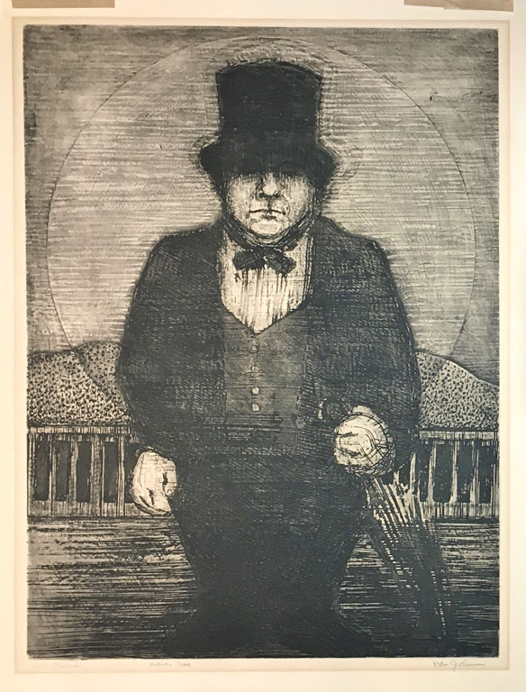 Mr. Thumb  24.5x18.5  etching  $490