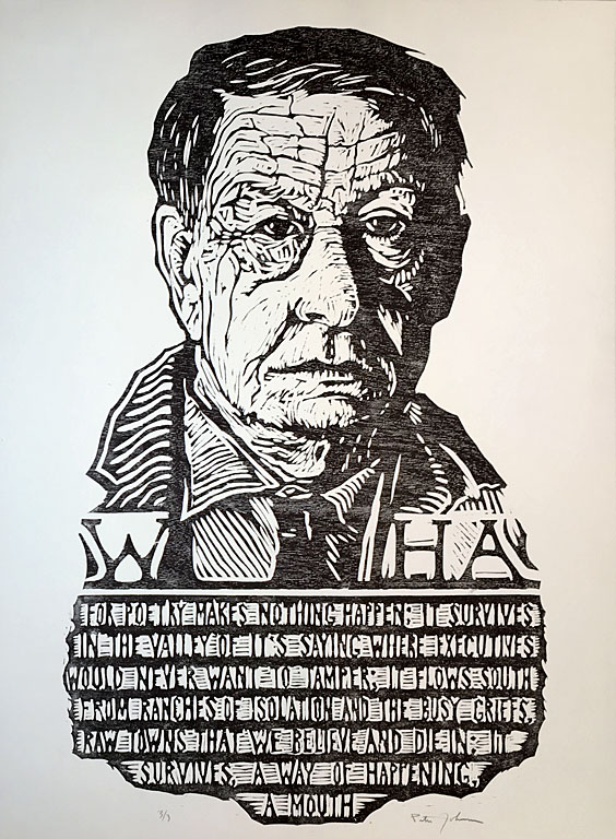 W.H. Auden 3 of 3  woodcut  $300 uf
