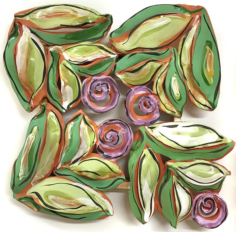 Flowers 16x17x4 ceramic $750