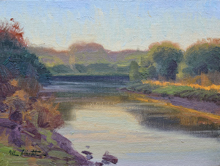 Eve on the River  6x8  op  $575
