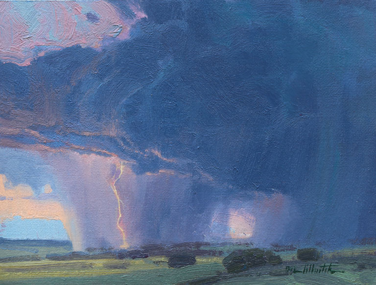 Lightening Study  6x8  oc  $575