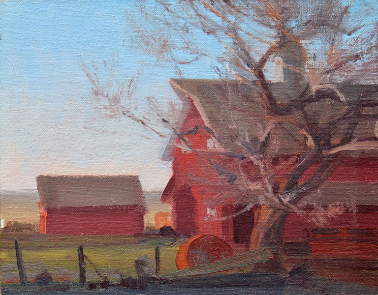The Red Barn  7x9  oc  $700