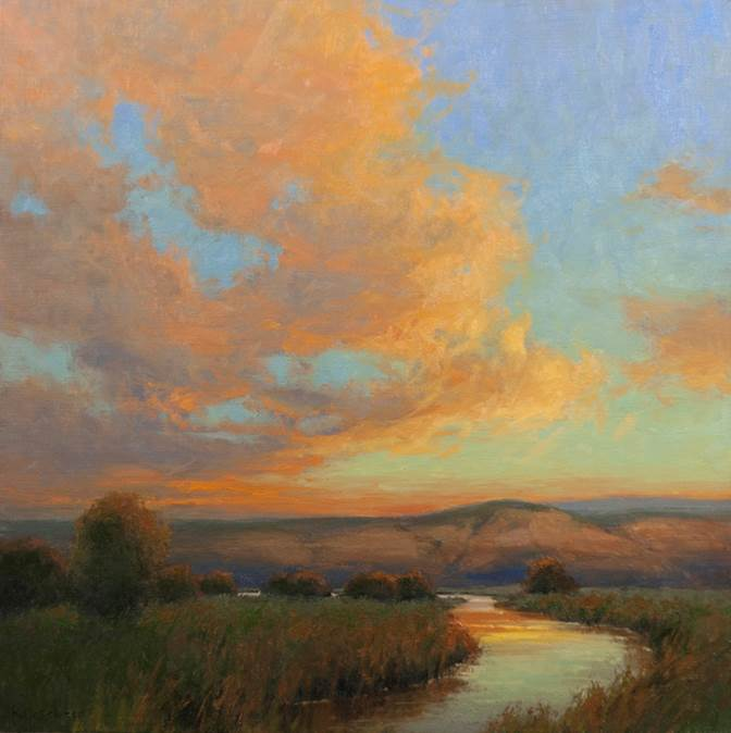 Day's End  24x24  ol  $3,300