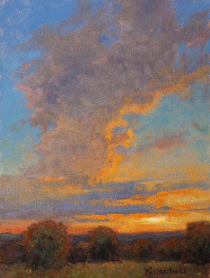 High Chroma Sunset 12x9 ol $950
