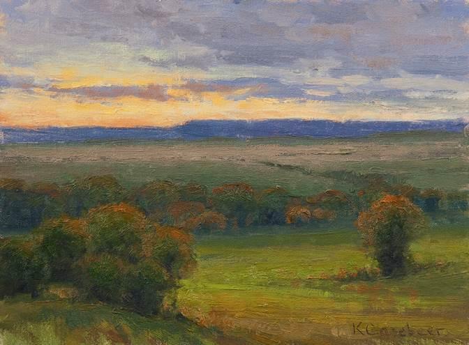 Pilgrim Ranch Sunset 9x12 oc $950