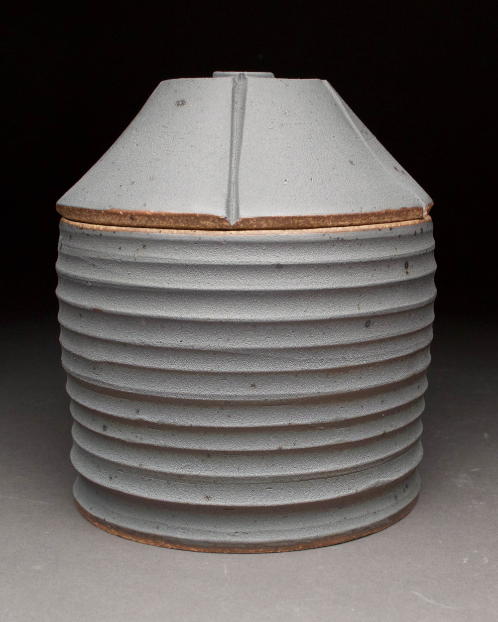 Grain Bin Jar #1  5.5x5.5x6.5  ceramic  $50