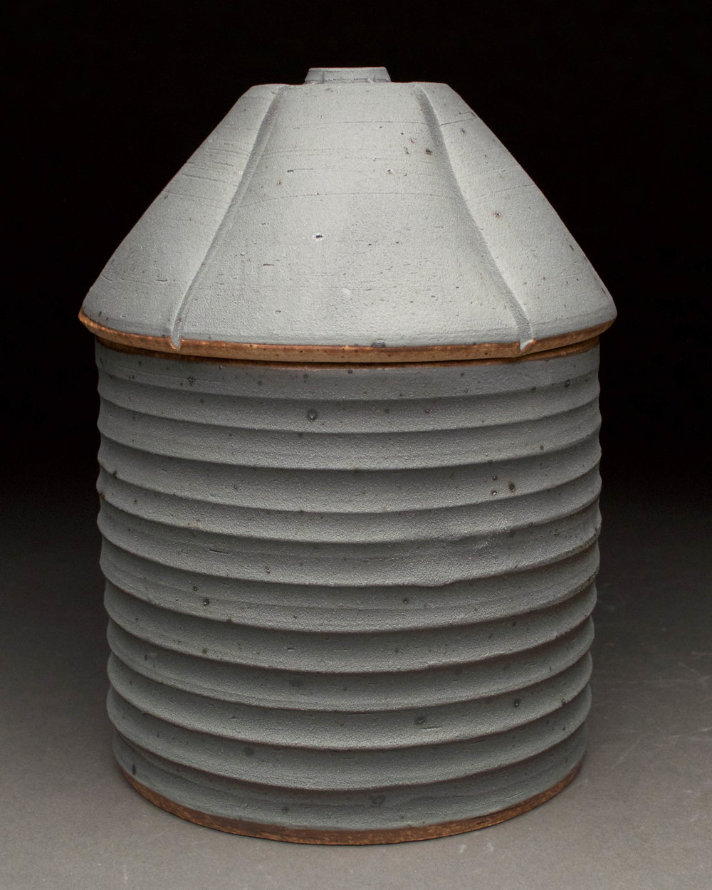 Grain Bin Jar #2  5x5x7  ceramic  $50