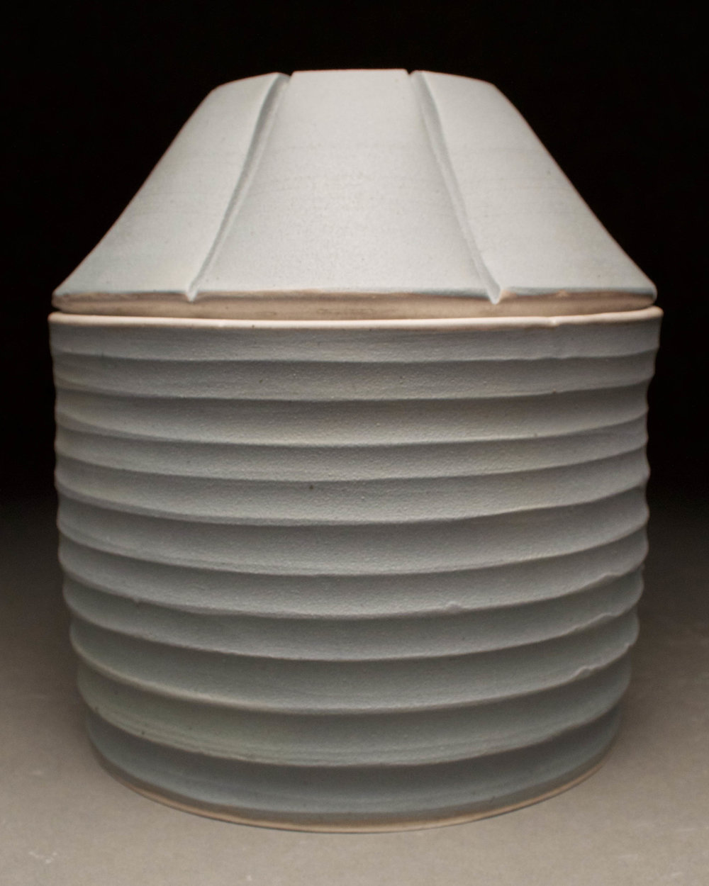 Grain Bin Jar #4  7x7x8  ceramic  $70