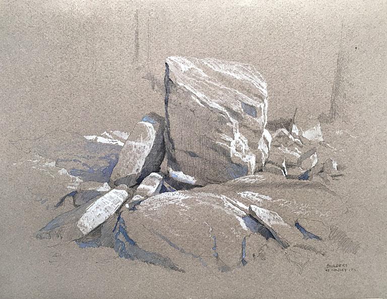 Boulders at Cowley S.F. Lake 8.5x11 mm $730