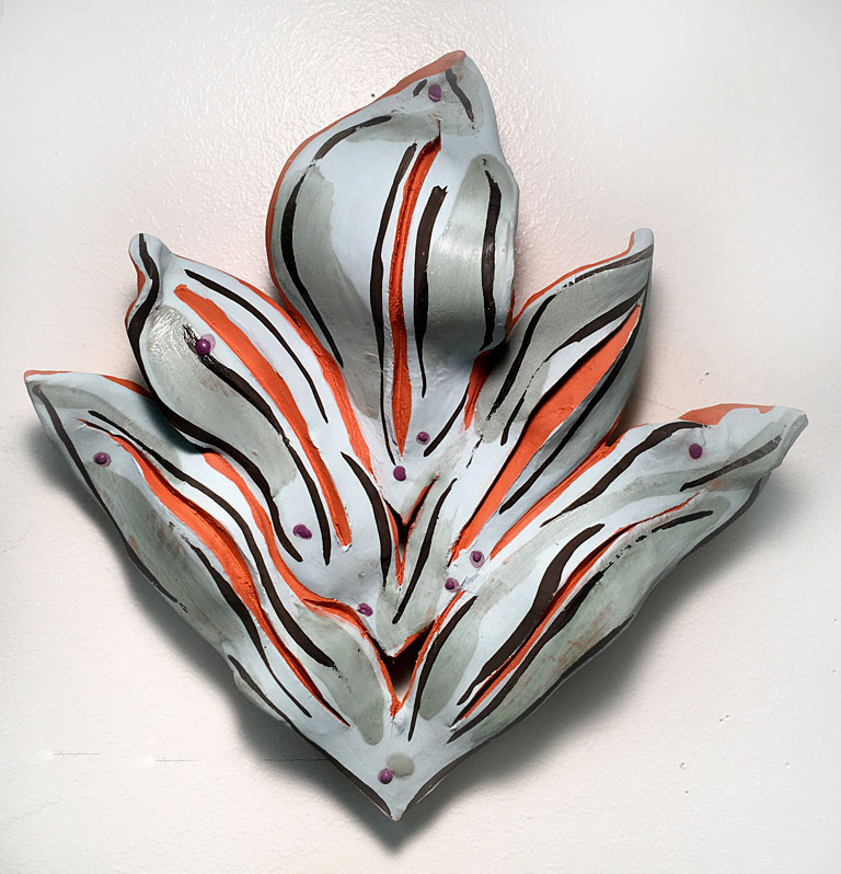 Pale Leaf  8x8  ceramic  $175