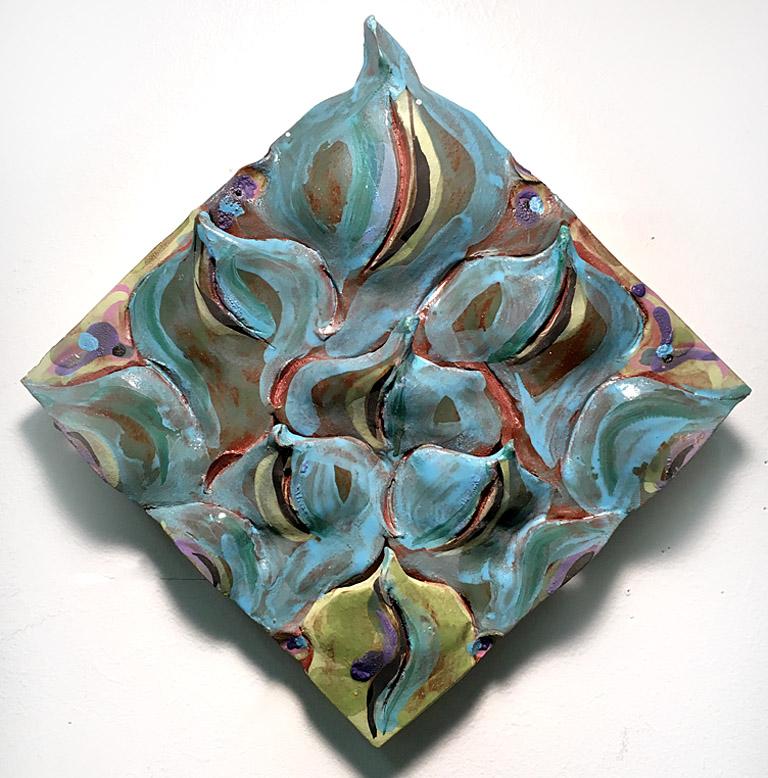 Turquoise Water 8x8 ceramic $175