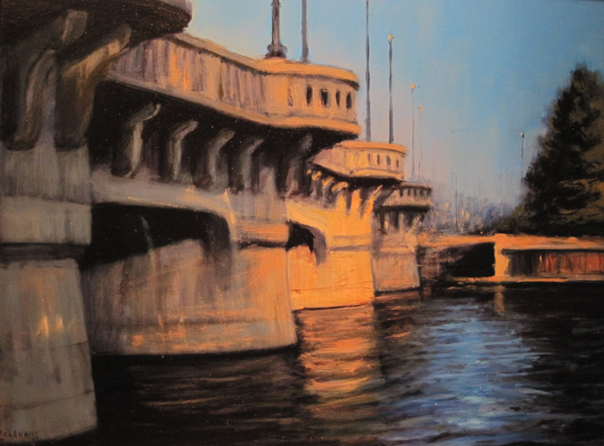 Dusk on the Murdock Bridge  11x14  ob  $875