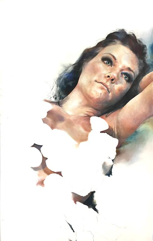 Sienna Clark Fluffed  65.5x41 pastel $2,175 fr