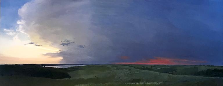 Clive Fullagar Second Sunset  14x36 oc $1,360 fr