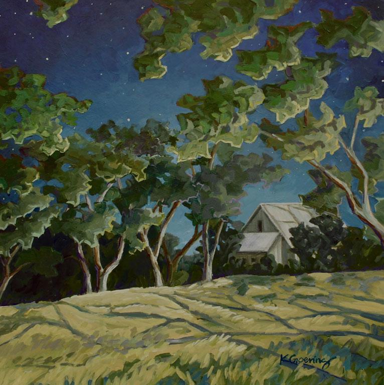 Kristin Goering Moonlit  18x18 ap $800