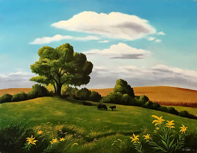 Anthony Benton Gude Under the Shade Tree 19x24.5 op $3,500 fr