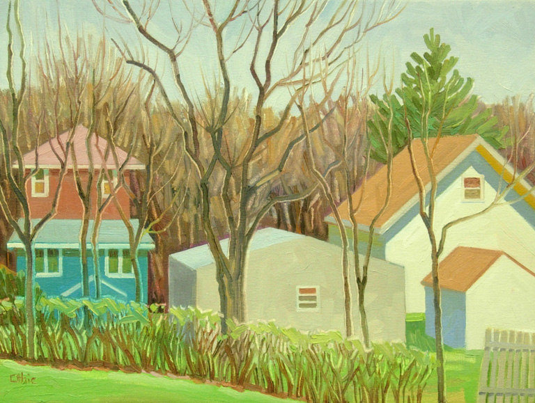 Nora Othic Houses Near the Track  12x16 oc $300 fr