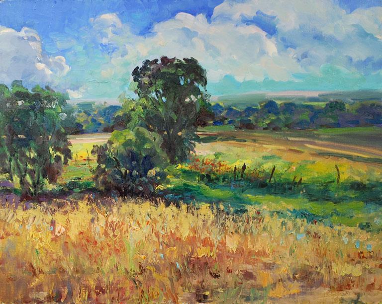 Doloris Pedersen Flint Hills Countryside  16x20 ol $1,500 fr