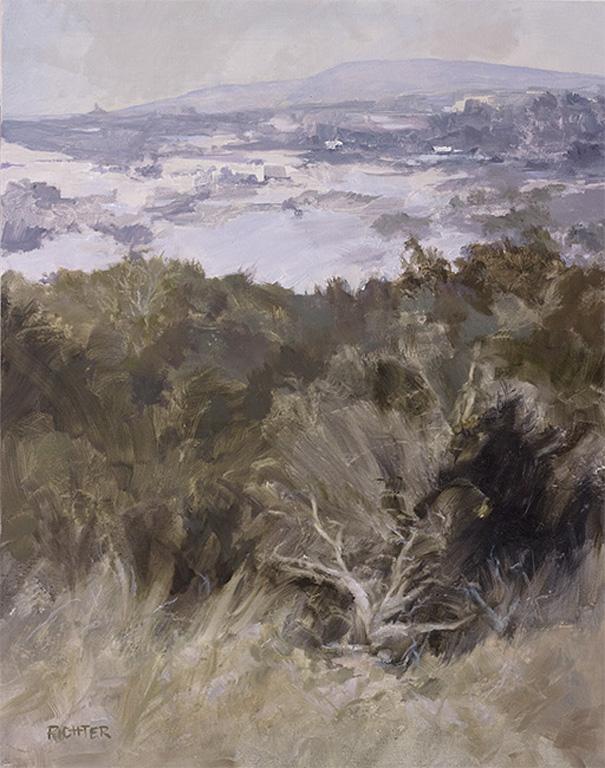 Matthew Richter Cedar, Snow, Blue Hillside  28x2 oc $2,900