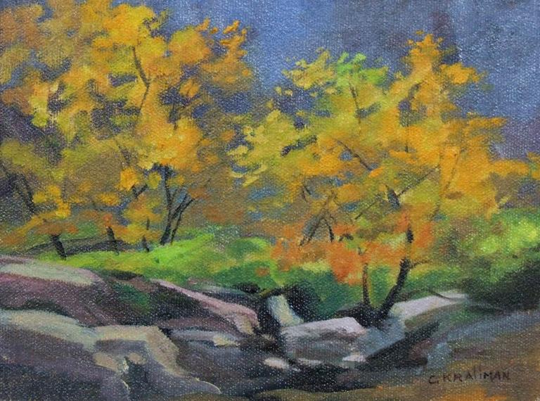 Golden Leaves 6x8 oc $350 fr