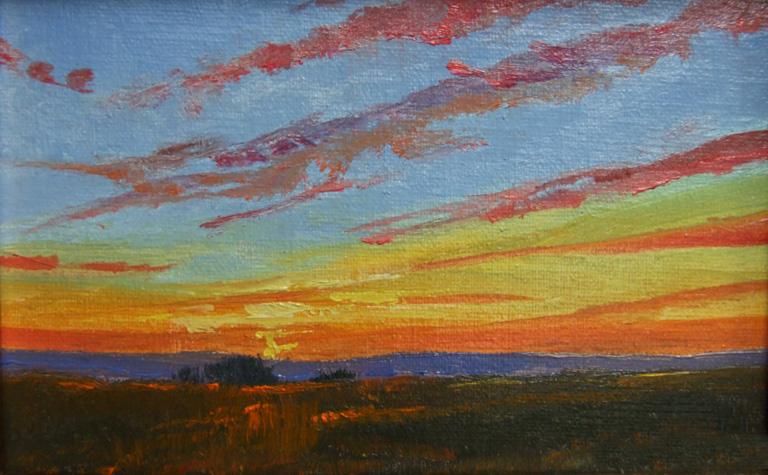 Sunset Study 4x6 oc SOLD