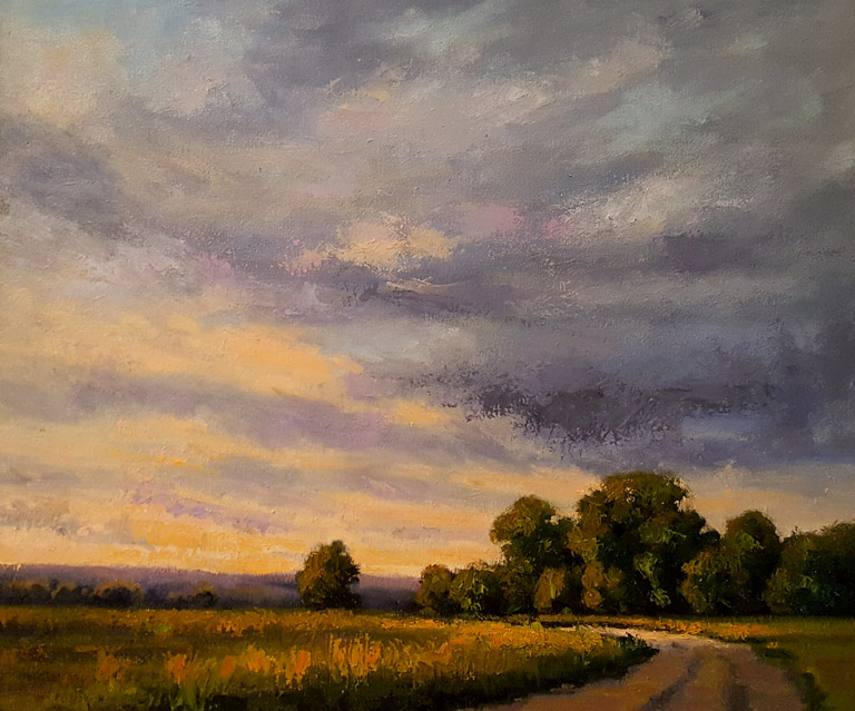 A Softer Sunset  18x24  oc  $875 fr