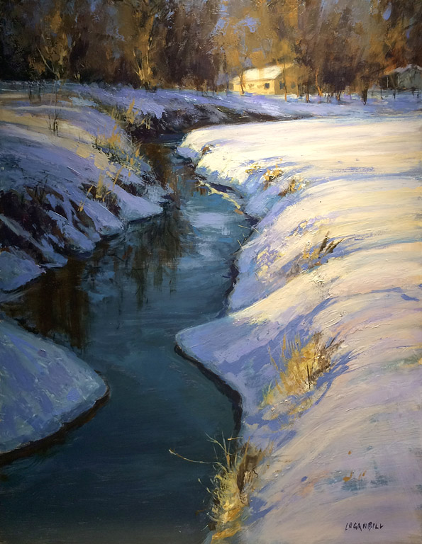 Dawn on Slate Creek  16x12  op  $1,150 fr