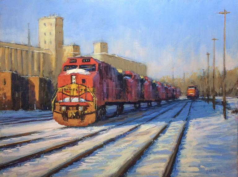 Snowy Station 12x16 op $1,150 fr
