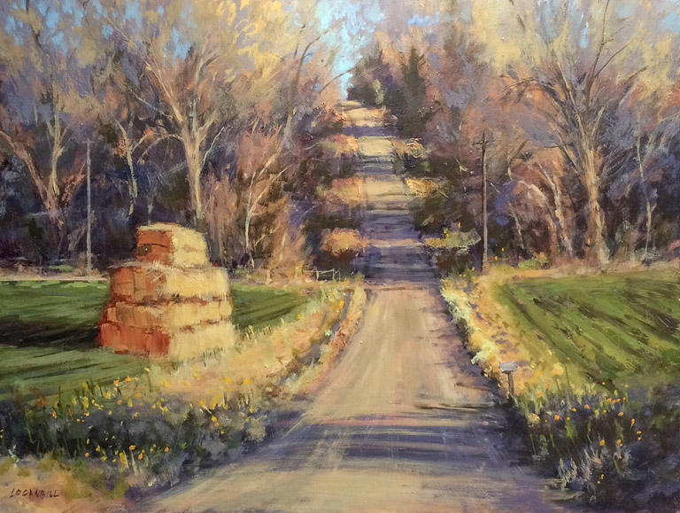 Up the Lane  12x16  op  $1,150 fr
